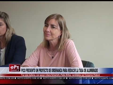 PICO PRESENTÓ UN PROYECTO DE ORDENANZA PARA REDUCIR LA TASA DE ALUMBRADO