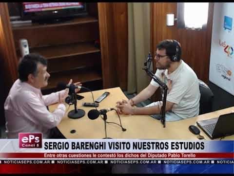 SERGIO BARENGHI VISITO NUESTROS ESTUDIOS