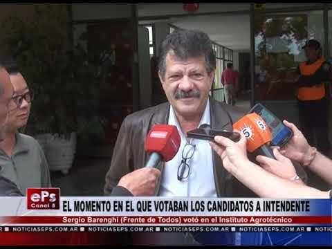 SERGIO BARENGHI VOTO EN EL INSTITUTO AGROTECNICO