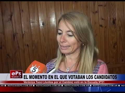 VERONICA TUCCI Y SU VOTO EN LA ESCUELA N°21