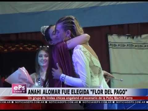 ANAHI ALOMAR FUE ELEGIDA FLOR DEL PAGO