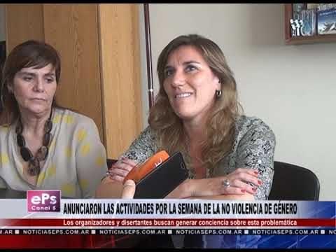 ANUNCIARON LAS ACTIVIDADES POR LA SEMANA DE LA NO VIOLENCIA DE GÉNERO