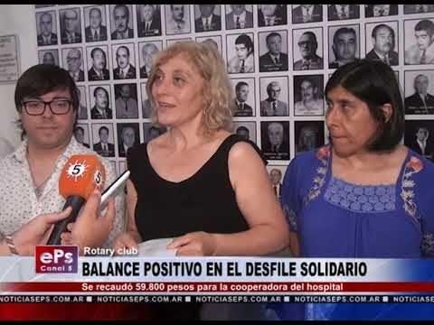 BALANCE POSITIVO EN EL DESFILE SOLIDARIO