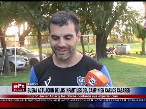 BUENA ACTUACION DE LOS INFANTILES DEL CAMPIN EN CARLOS CASARES
