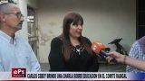 CARLOS CEBEY BRINDO UNA CHARLA SOBRE EDUCACION EN EL COMITE RADICAL