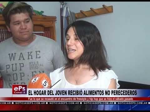 EL HOGAR DEL JOVEN RECIBIÓ ALIMENTOS NO PERECEDEROS