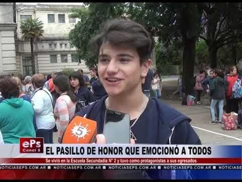 EL PASILLO DE HONOR QUE EMOCIONÓ A TODOS