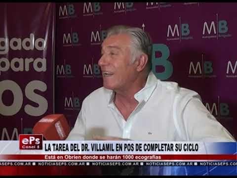 LA TAREA DEL DR VILLAMIL EN POS DE COMPLETAR SU CICLO