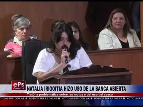 NATALIA IRIGOITIA HIZO USO DE LA BANCA ABIERTA