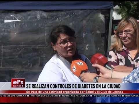 SE REALIZAN CONTROLES DE DIABETES EN LA CIUDAD