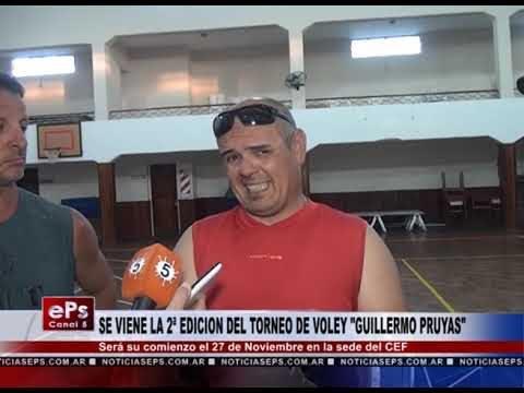 SE VIENE LA 2ª EDICION DEL TORNEO DE VOLEY GUILLERMO PRUYAS