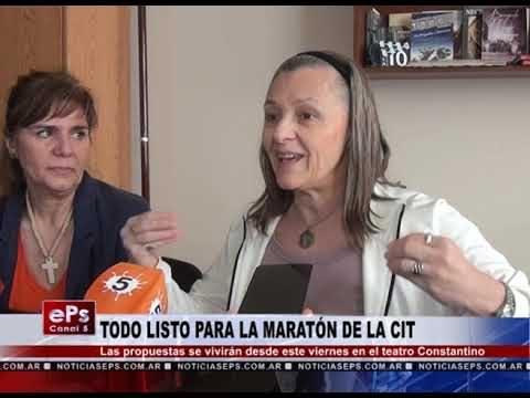 TODO LISTO PARA LA MARATÓN DE LA CIT