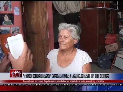 CORAZON SOLIDARIO BRAGADO ENTREGARA VIANDAS A LOS ABUELOS PARA EL 24 Y 31 DE DICIEMBRE