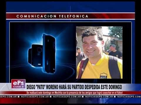 DIEGO PATO MORENO HARÁ SU PARTIDO DESPEDIDA ESTE DOMINGO