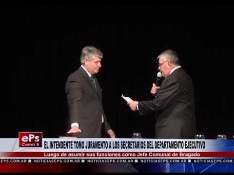 EL INTENDENTE TOMO JURAMENTO A LOS SECRETARIOS DEL DEPARTAMENTO EJECUTIVO