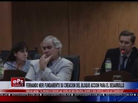 FERNANDO NERI FUNDAMENTO SU CREACION DEL BLOQUE ACCION PARA EL DESARROLLO