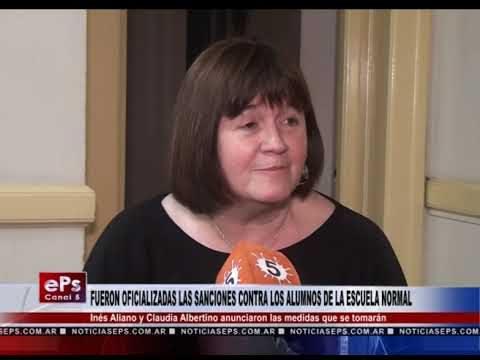 FUERON OFICIALIZADAS LAS SANCIONES CONTRA LOS ALUMNOS DE LA ESCUELA NORMAL