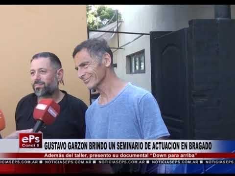GUSTAVO GARZON BRINDO UN SEMINARIO DE ACTUACION EN BRAGADO