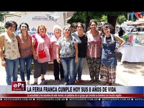 LA FERIA FRANCA CUMPLE HOY SUS 8 AÑOS DE VIDA
