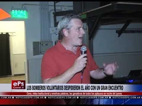 LOS BOMBEROS VOLUNTARIOS DESPIDIERON EL AÑO CON UN GRAN ENCUENTRO