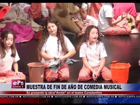 MUESTRA DE FIN DE AÑO DE COMEDIA MUSICAL