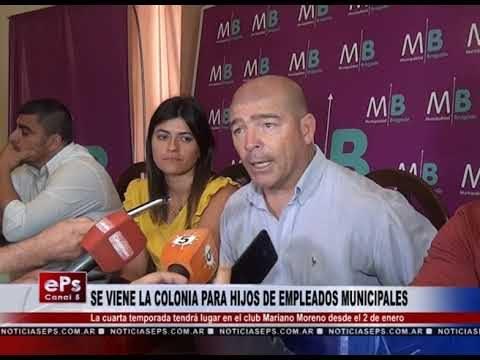 SE VIENE LA COLONIA PARA HIJOS DE EMPLEADOS MUNICIPALES
