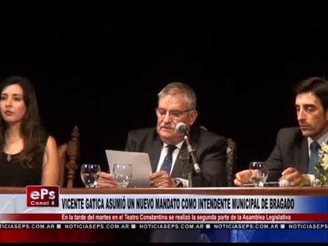 VICENTE GATICA ASUMIÓ UN NUEVO MANDATO COMO INTENDENTE MUNICIPAL DE BRAGADO