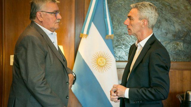 EL MINISTRO DE TRANSPORTE RECIBIÓ AL INTENDENTE VICENTE GATICA