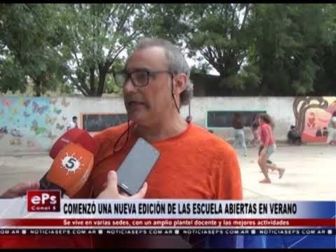 COMENZÓ UNA NUEVA EDICIÓN DE LAS ESCUELA ABIERTAS EN VERANO
