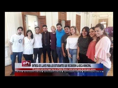 ENTREGA DE LLAVES PARA LOS ESTUDIANTES QUE RECIBIERON LA BECA MUNICIPAL