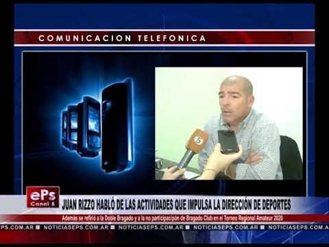 JUAN RIZZO HABLÓ DE LAS ACTIVIDADES QUE IMPULSA LA DIRECCIÓN DE DEPORTES