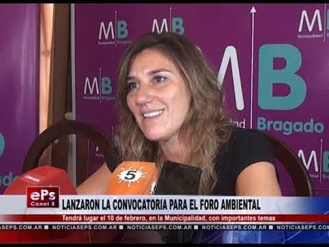 LANZARON LA CONVOCATORIA PARA EL FORO AMBIENTAL