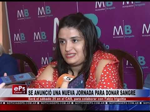SE ANUNCIÓ UNA NUEVA JORNADA PARA DONAR SANGRE
