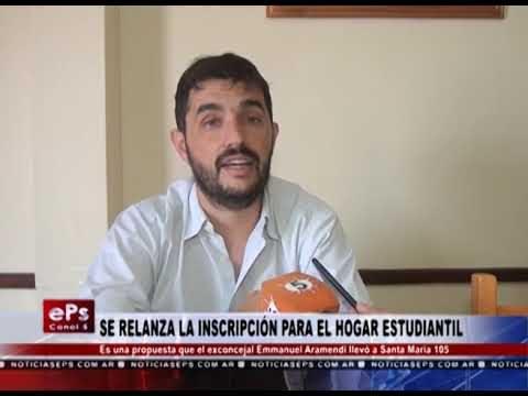 SE RELANZA LA INSCRIPCIÓN PARA EL HOGAR ESTUDIANTIL