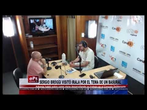 SERGIO BROGGI VISITÓ IRALA POR EL TEMA DE UN BASURAL