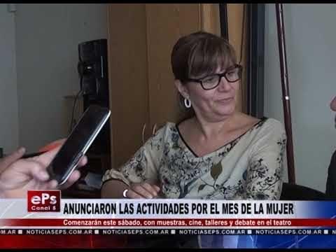 ANUNCIARON LAS ACTIVIDADES POR EL MES DE LA MUJER