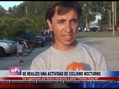 SE REALIZO UNA ACTIVIDAD DE CICLISMO NOCTURNO