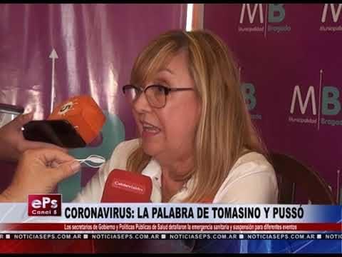CORONAVIRUS LA PALABRA DE TOMASINO Y PUSSÓ