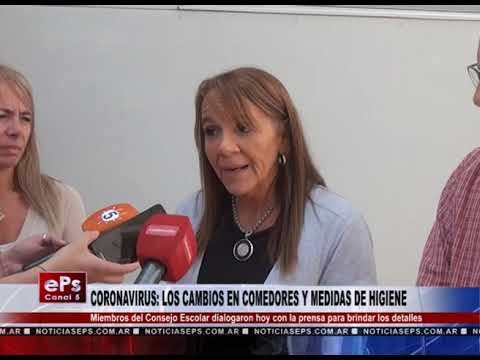 CORONAVIRUS LOS CAMBIOS EN COMEDORES Y MEDIDAS DE HIGIENE