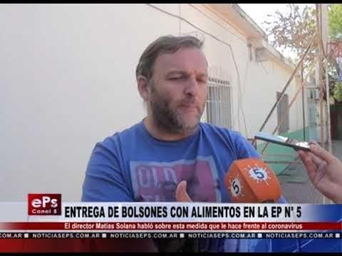 ENTREGA DE BOLSONES CON ALIMENTOS EN LA EP N° 5