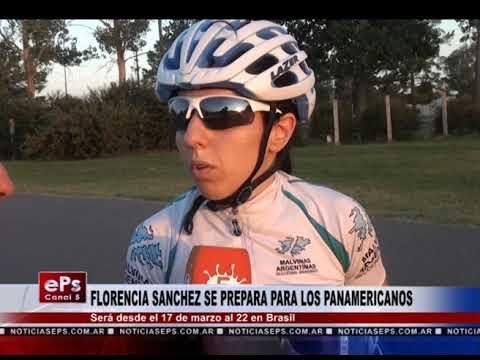 FLORENCIA SANCHEZ SE PREPARA PARA LOS PANAMERICANOS