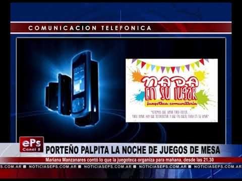 PORTEÑO PALPITA LA NOCHE DE JUEGOS DE MESA