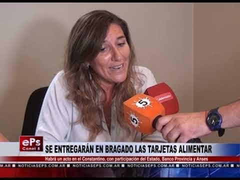 SE ENTREGARÁN EN BRAGADO LAS TARJETAS ALIMENTAR