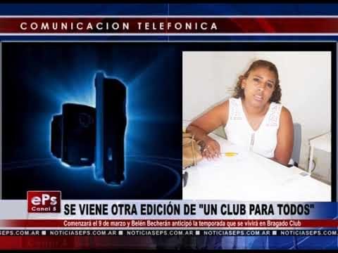 SE VIENE OTRA EDICIÓN DE UN CLUB PARA TODOS